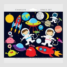 Amd clipart rocket UFOs clip clipart Earth kids