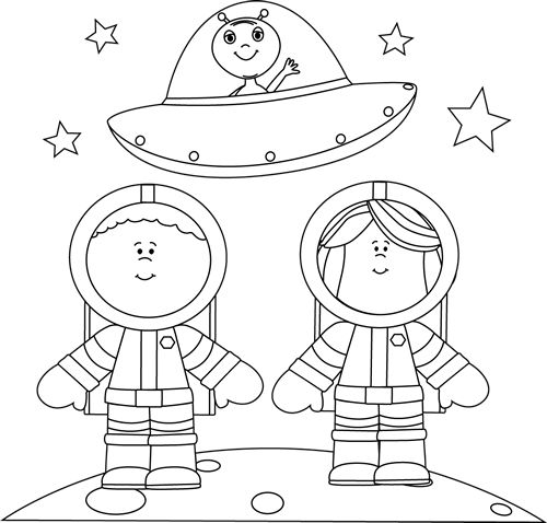 Space clipart black and white Black images on Pinterest with