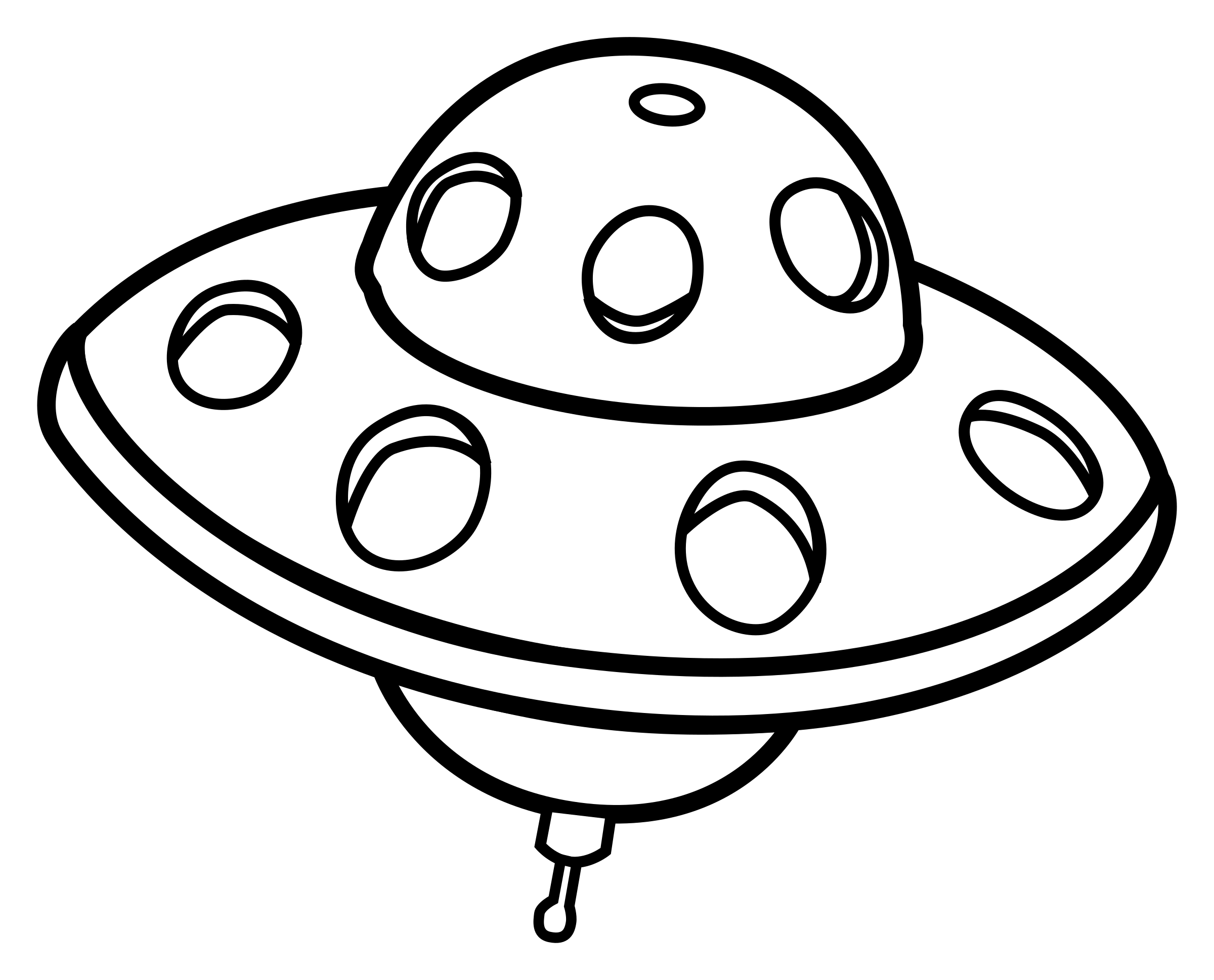 UFO clipart outline Lineart lineart UFO UFO Clipart