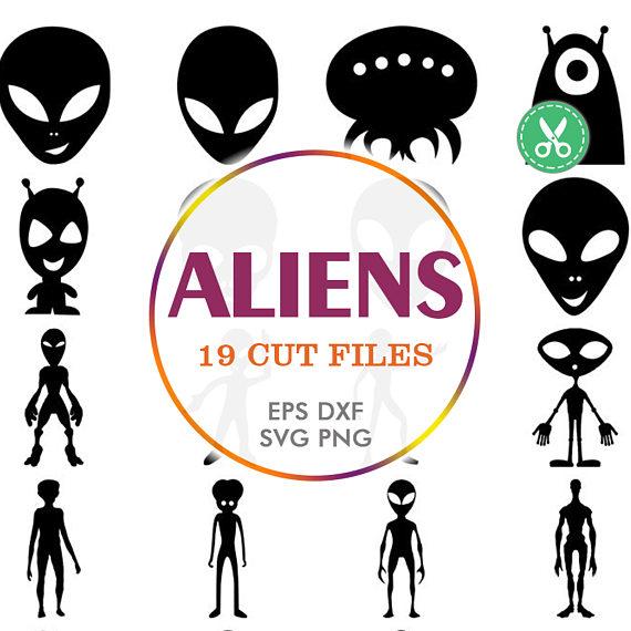 UFO clipart silhouette Alien Cuts Decal Silhouette Files
