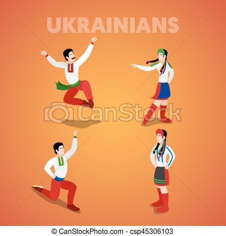 Ukraine clipart cultural dance People Vector of 3d csp45306103