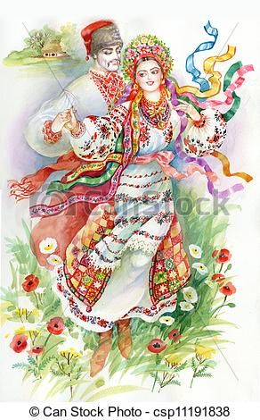 Ukraine clipart cultural dance Girl and dance of on