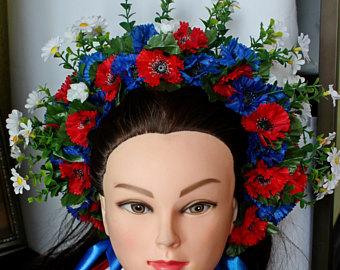 Ukraine clipart cultural dance Headdress Crown Lush ribbons Crown