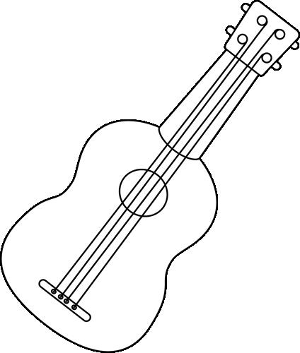 Ukulele clipart White Black White Art Clip