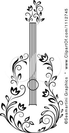 Ukulele clipart floral Google for com/small/1112745 Guitar clipartof