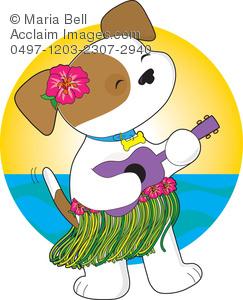Ukulele clipart ukulele player Skirt Wearing a Art Playing