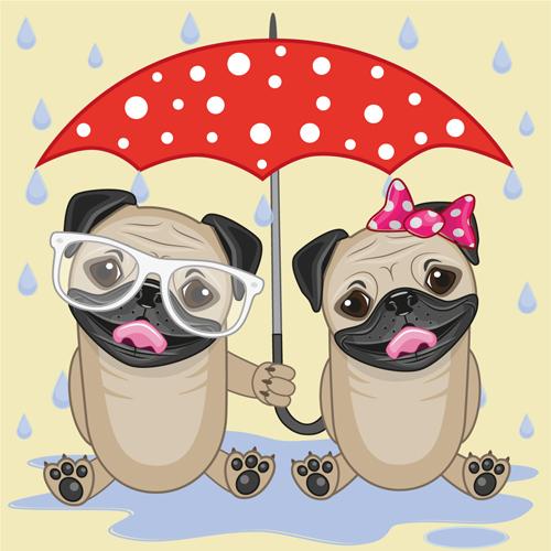 Umbrella clipart animal Umbrella and  and vector