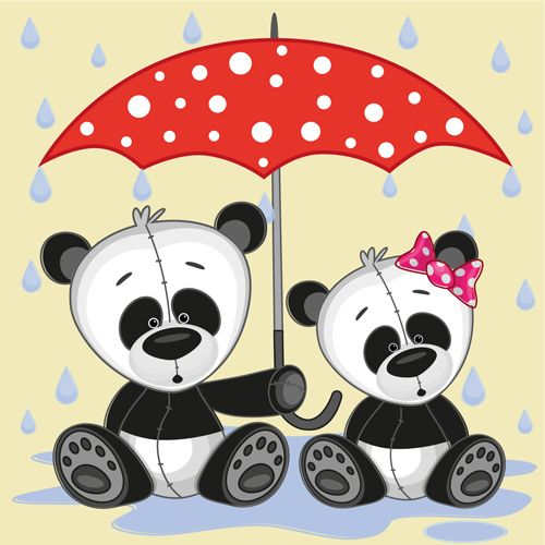 Umbrella clipart animal Umbrella and RAINY on animals