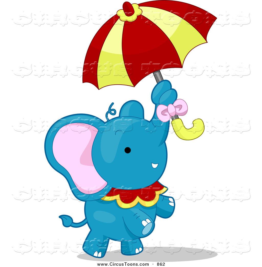 Umbrella clipart animal Standing Elephant Cute Circus Talented