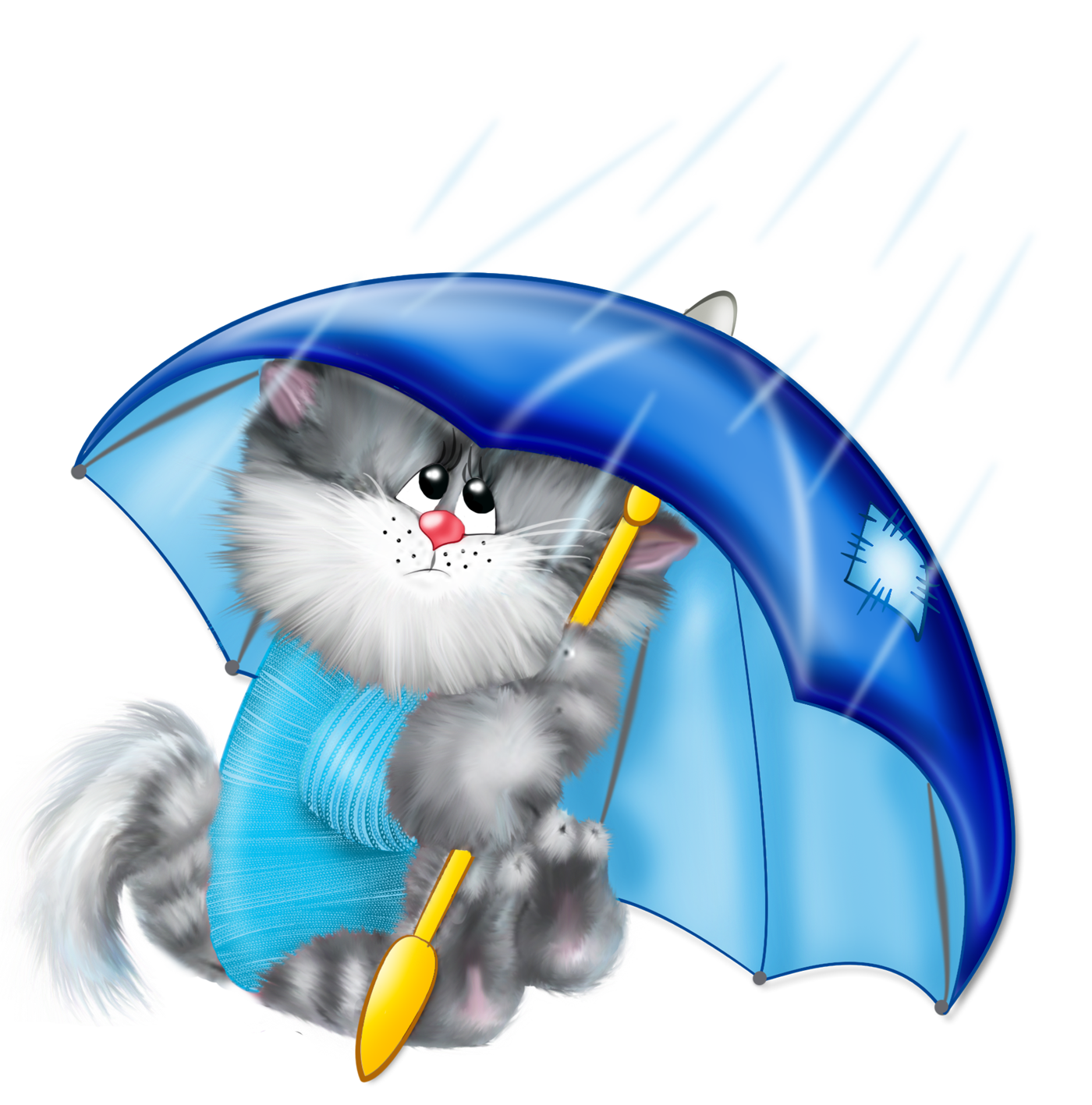Umbrella clipart animal Cat size Gallery  full