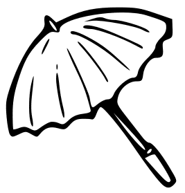 Umbrella clipart animal Clip Umbrella Outline Page Download