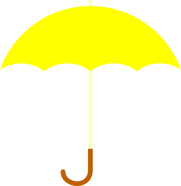 Drawn umbrella yellow umbrella Online vector as: Umbrella art
