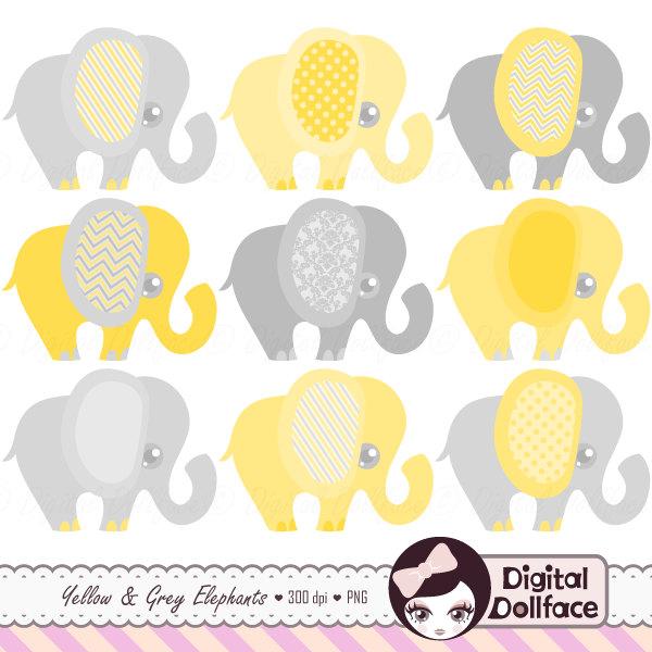 Umbrella clipart baby elephant Studio Graphic DigitalDollface Clipart Gray