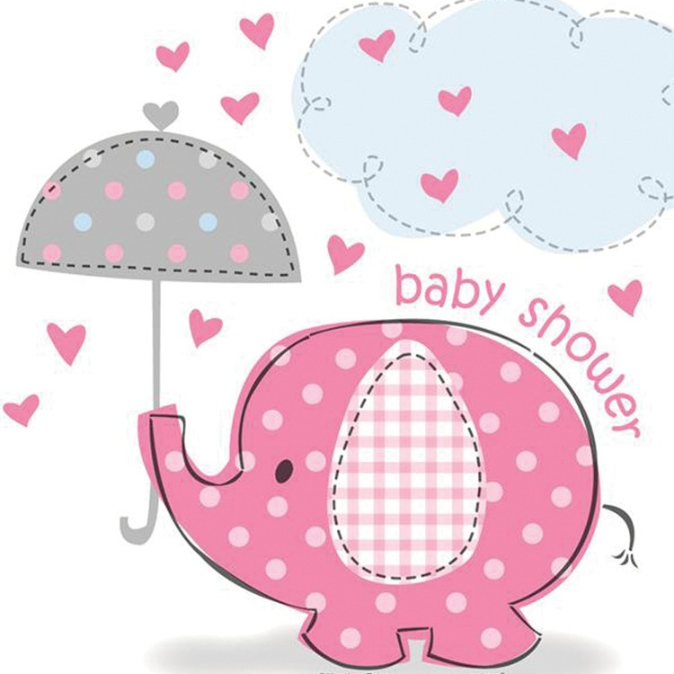 Umbrella clipart baby elephant Shower Elephant Pack Pink for