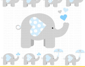 Umbrella clipart baby elephant Baby Use for Commercial art