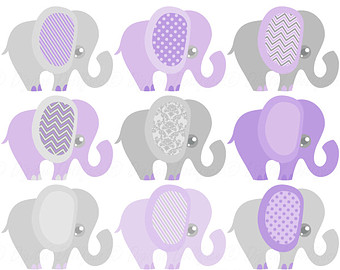 Umbrella clipart baby elephant Clipart Cute Baby Grey Elephant