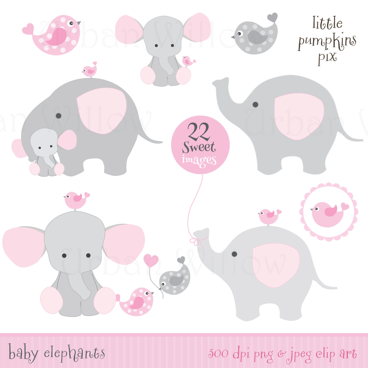 Cotton Candy clipart elephant Elephants commercial Clipart  use