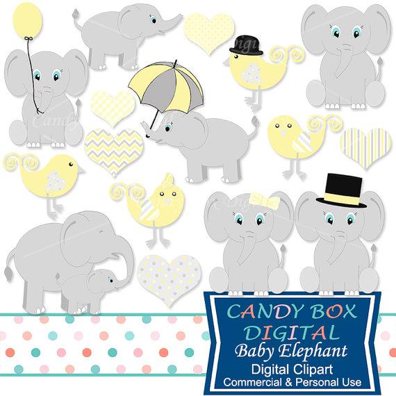Umbrella clipart baby elephant CandyBoxDigital Baby Use for