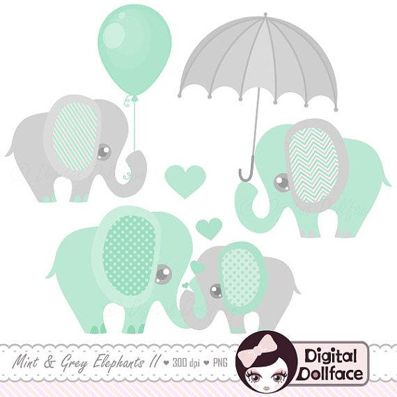 Umbrella clipart baby elephant Elephant Clip and Shower /