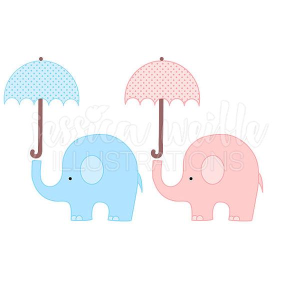 Umbrella clipart baby elephant Elephant Baby Clipart with Elephant