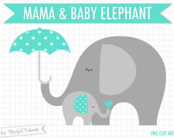 Umbrella clipart baby elephant Shower Umbrella baby clip clipart