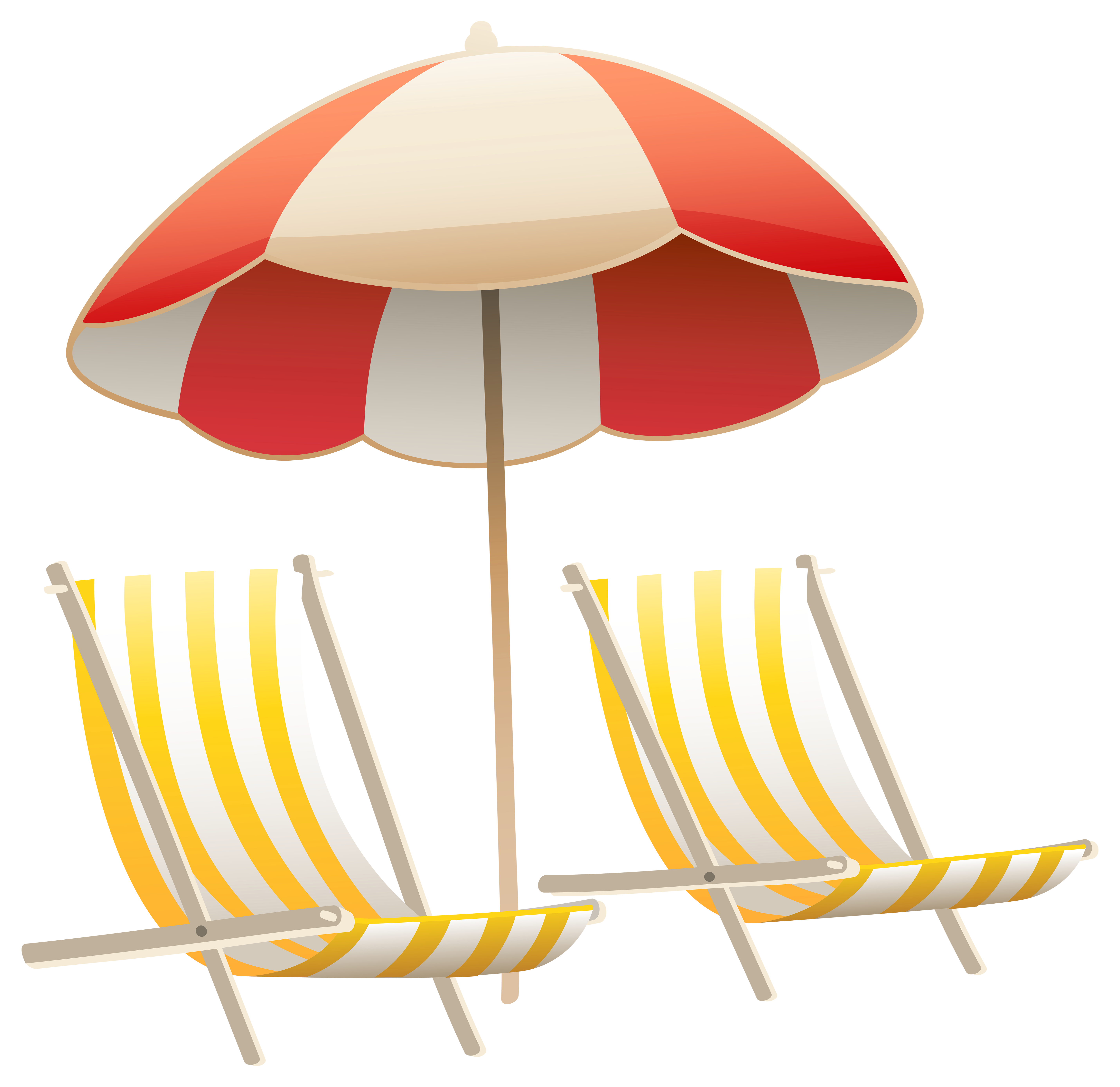 Vacation clipart beach chair Clipart and PNG Yopriceville Image