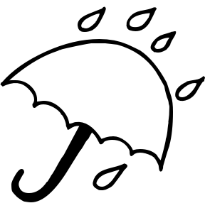 Thunderstorm clipart black and white Black Clipart Rain Clipart And