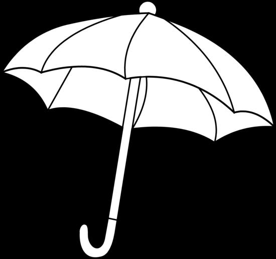 Drawn umbrella colouring picture White clipart clipart and black