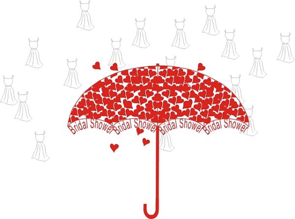 Umbrella clipart bridal shower umbrella Clip Art Shower Art com