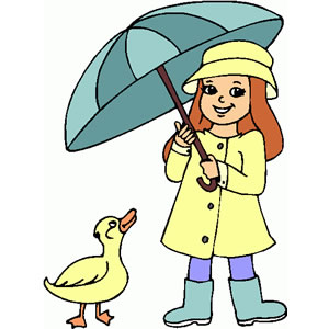 Umbrella clipart child  Girl Little Clipart Clipart