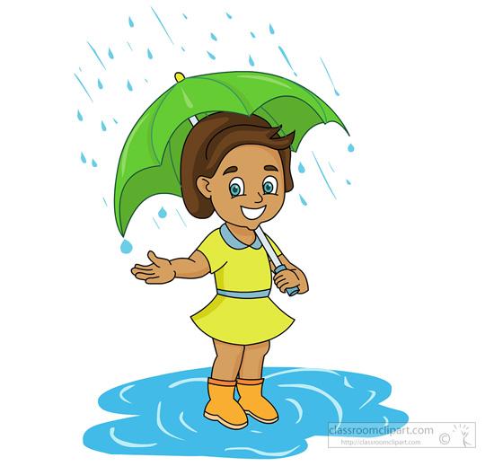 Umbrella clipart child Free Rain art clipart rain