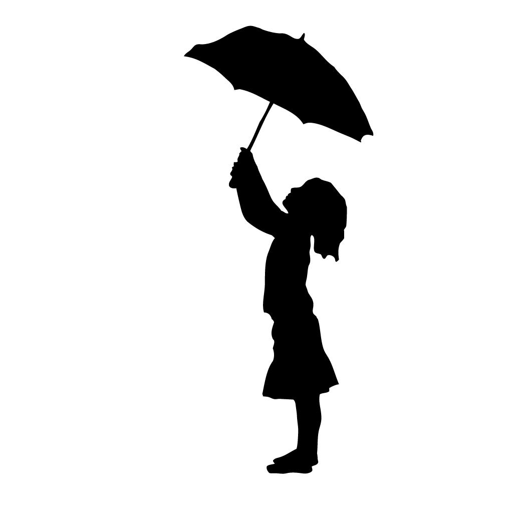 Umbrella clipart child In umbrella silhouette Google the