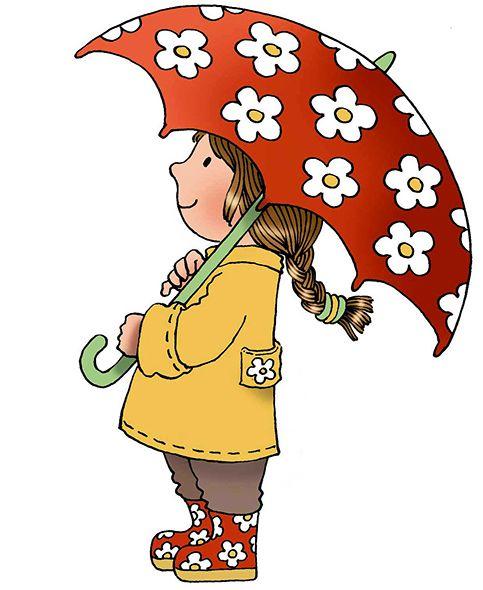 Umbrella clipart child On by Margaret umbrellas girl