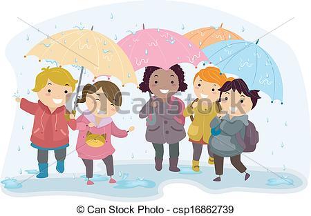Umbrella clipart child Kids Umbrella of  Kids