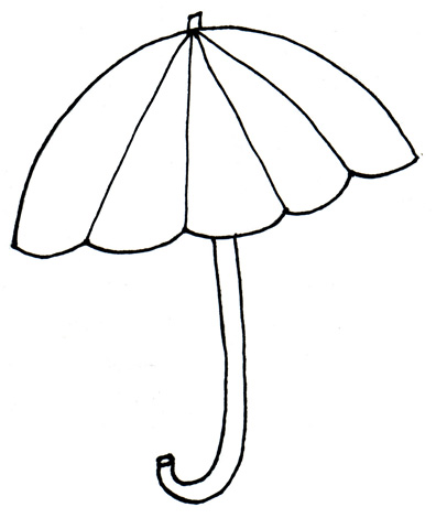 Drawn umbrella colouring picture The in pattern Storm to