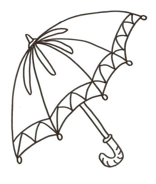 Drawn umbrella colouring picture Pyrography PrintablesClip Pinterest PatternsHand Filigranok