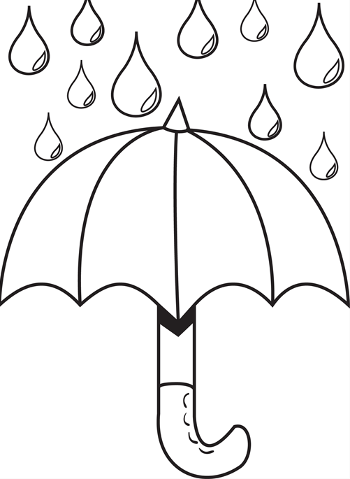 Drawn umbrella colouring picture For Day With pages Coloring