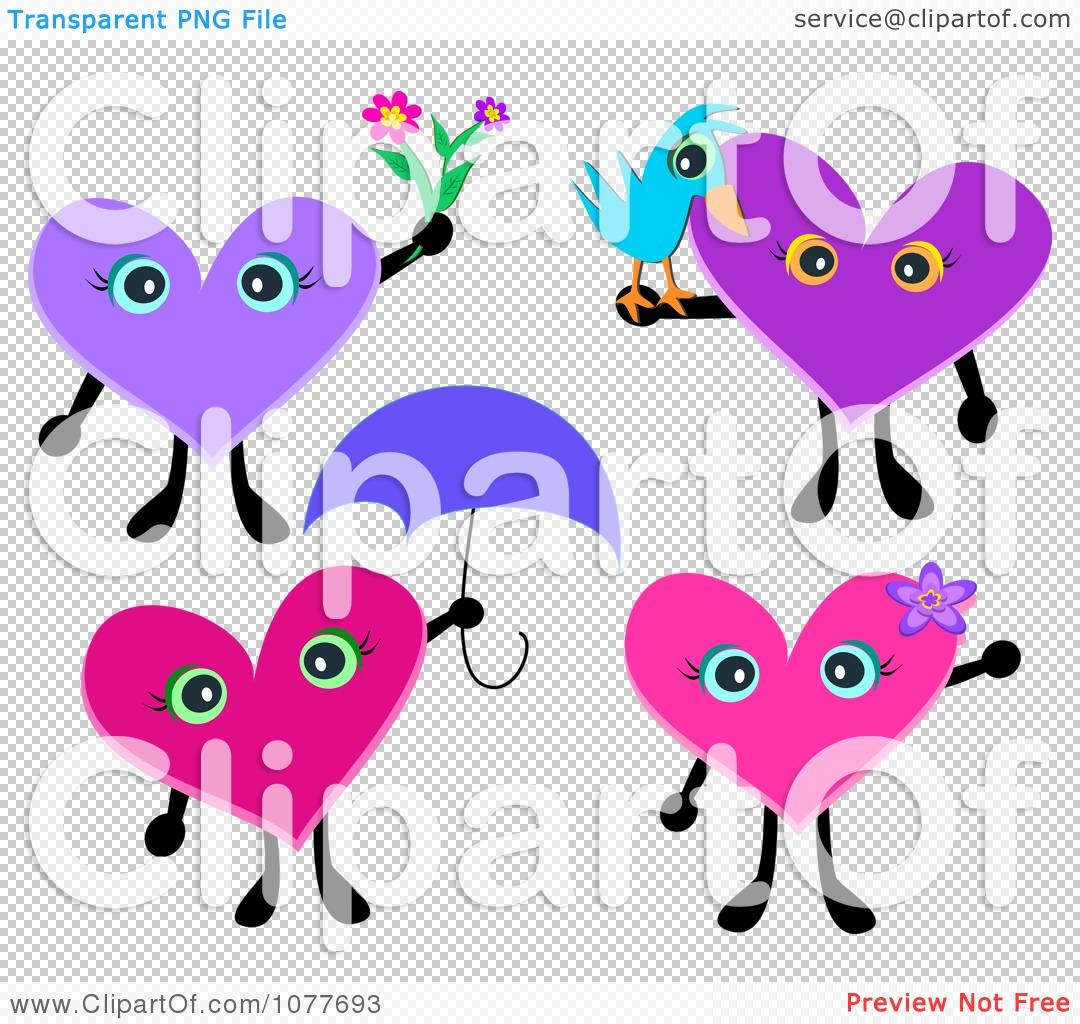 Umbrella clipart heart Bird  And Characters Heart