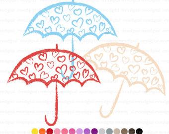 Umbrella clipart heart Clipart Heart Umbrella Colors Clip