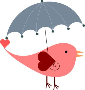 Umbrella clipart heart Best on Bird about With