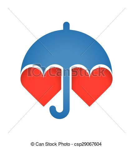 Umbrella clipart heart Of  Umbrella protects protects