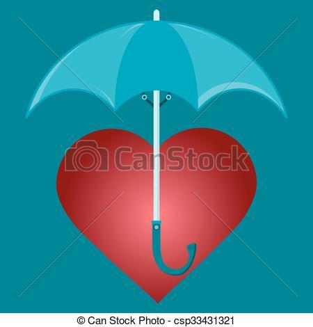 Umbrella clipart heart Protect the under protect umbrella