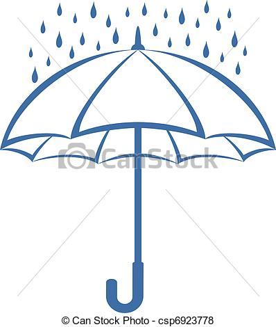 Drawn umbrella pictogram Umbrella Umbrella rain csp6923778 pictogram