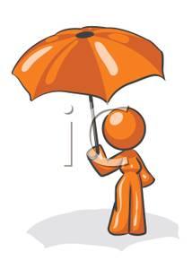 Umbrella clipart man Orange an Free Umbrella Holding