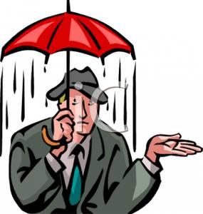 Umbrella clipart man In Clipart Man Picture Rain