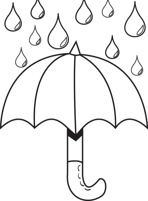 Drawn raindrops black and white Printable Raindrops For Clip Template