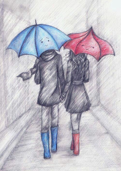 Umbrella clipart pencil sketch Cute movie actually There on