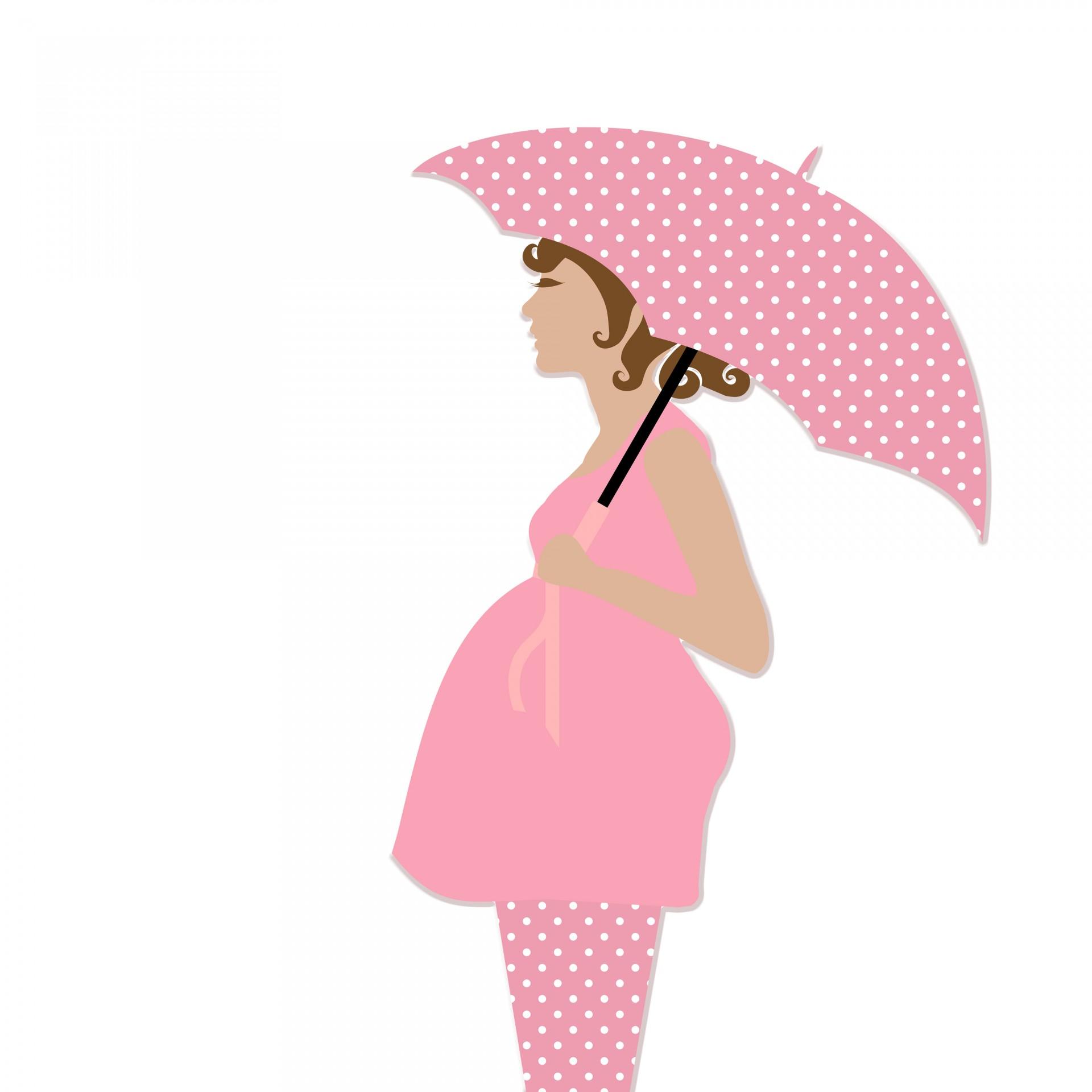 Woman clipart pregnent With Woman Pregnant Pregnant Umbrella
