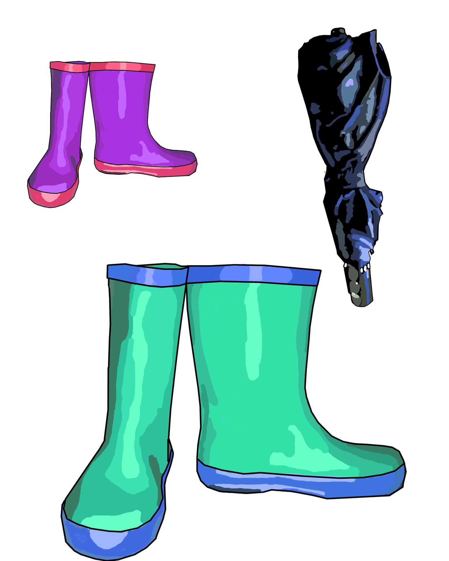 Shoe clipart rainy #10
