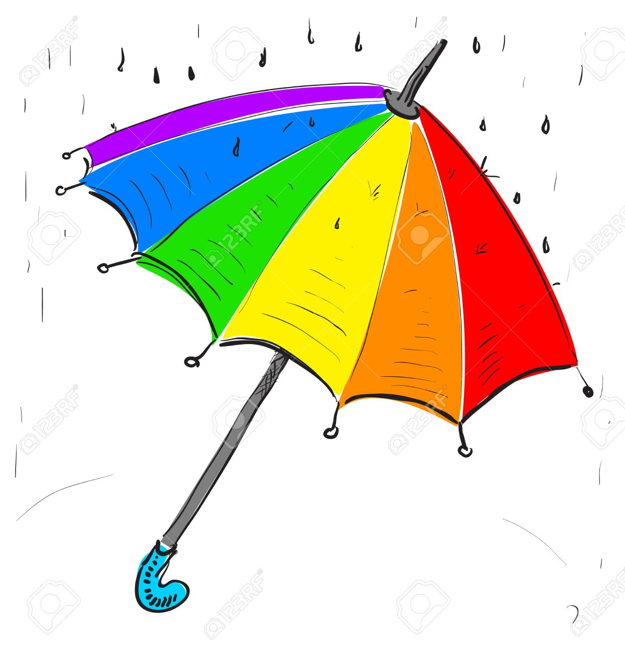 Drawn umbrella cartoon Rainbow The Rain clipart umbrella